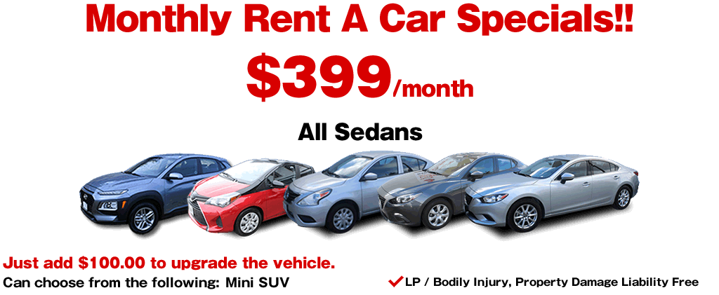 Monthly Rent A Car Specials Guam