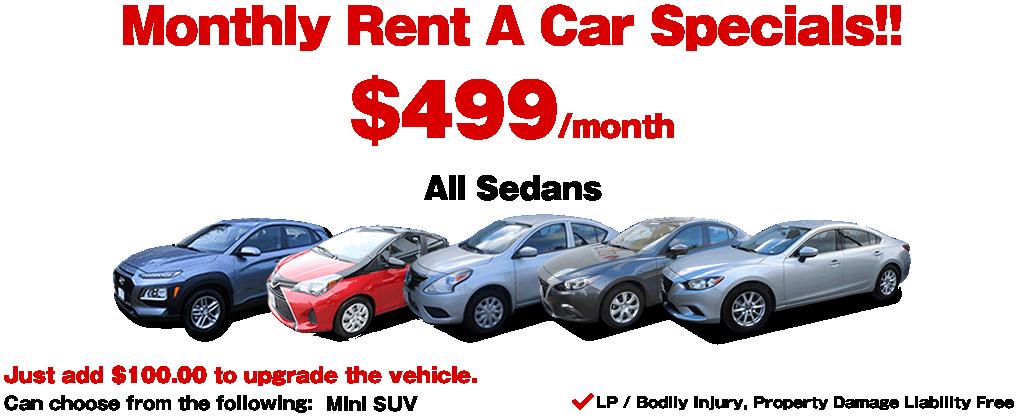 Monthly Rent A Car Specials Guam